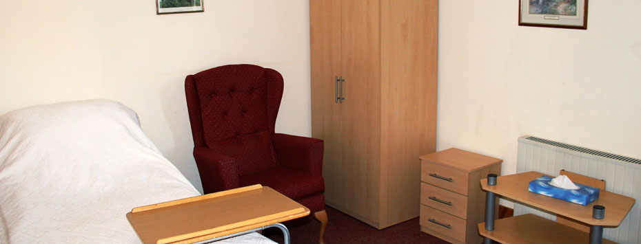 interior photo of stretton nursing home room